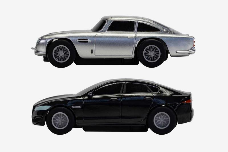 Race the Aston Martin DB5 and Jaguar XF in Scalextric's 'No Time to Die' Slot Car Set  slot car toy racing