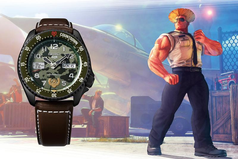 seiko 5 sports street fighter v yu Ken Chun-Li Guile Zangief Blanka release watch collection when is it available where to cop