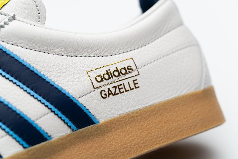 "size? Exclusive adidas Originals Gazelle Vintage ""Dentist Chair"" Paul Gascoigne Euro '96 OG Retro Three Stripes White Blue Leather Trefoil Football England"