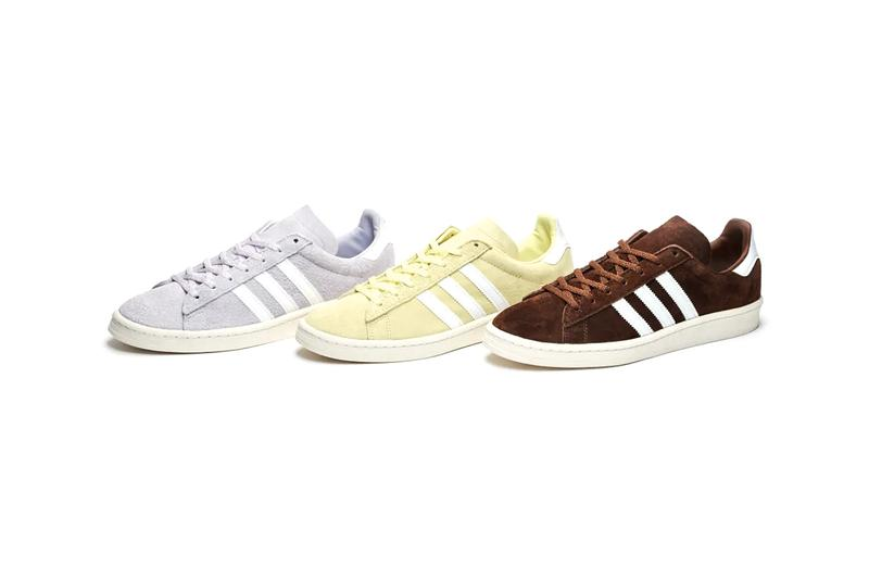 sneakersnstuff adidas originals campus 80 homemade pack release information yellow lemonade purple frosted cupcake chocolate brownie
