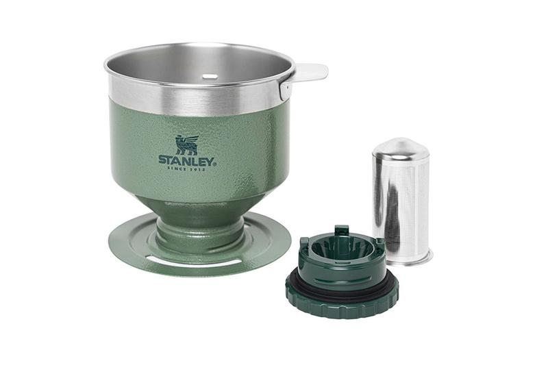 Stanley Paperless Pour Over Coffee Dripper camping outdoors Hammertone Green steel thermos coffee