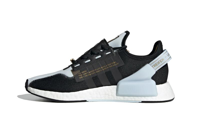star wars adidas originals nmd r1 v2 lando calrissian FX9300 sky tint core black gold metallic official release date info photos price store list buying guide