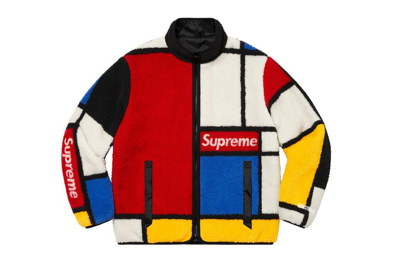 Supreme Fall/Winter 2020 Jackets Toshio Saeki Refrigiwear Fox Racing Vanson Piet Mondrian