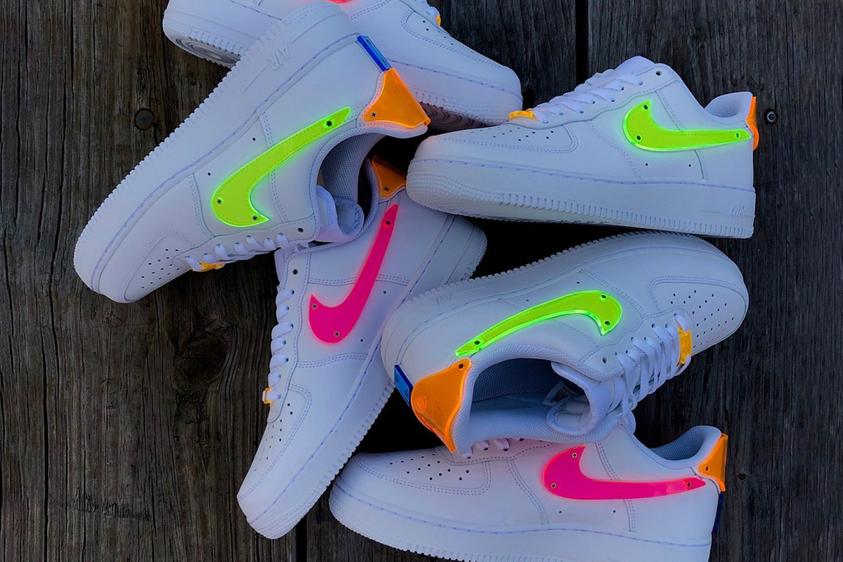 TBD in Process Reworks Nike's Air Force 1 With Neon Thermoformed Acrylic