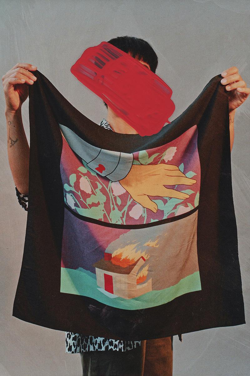 The Hundreds Artist Series Bandanas Collection charity Anna Weyant, Mike Giant, Amir H. Fallah, Greg Ito donation relief foundation design