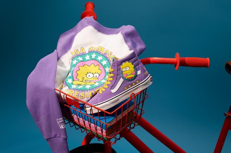 the simpsons homer marge bart lisa maggie release information vans chukka sk8-hi slip on apparel details buy cop purchase