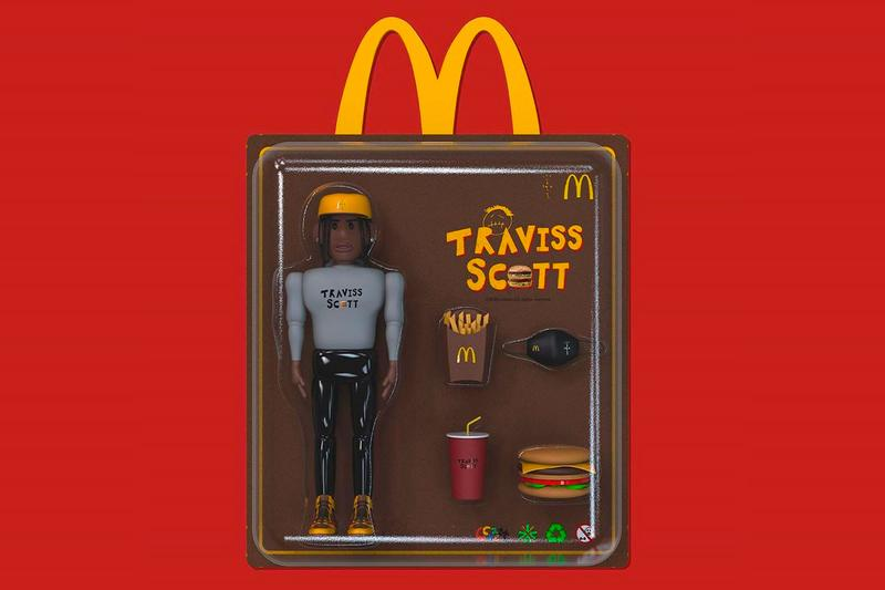 Travis Scott McDonalds Happy Meal Toy ccreatt fictional collectible set figure action rapper hip hop leaked golden arches fast food