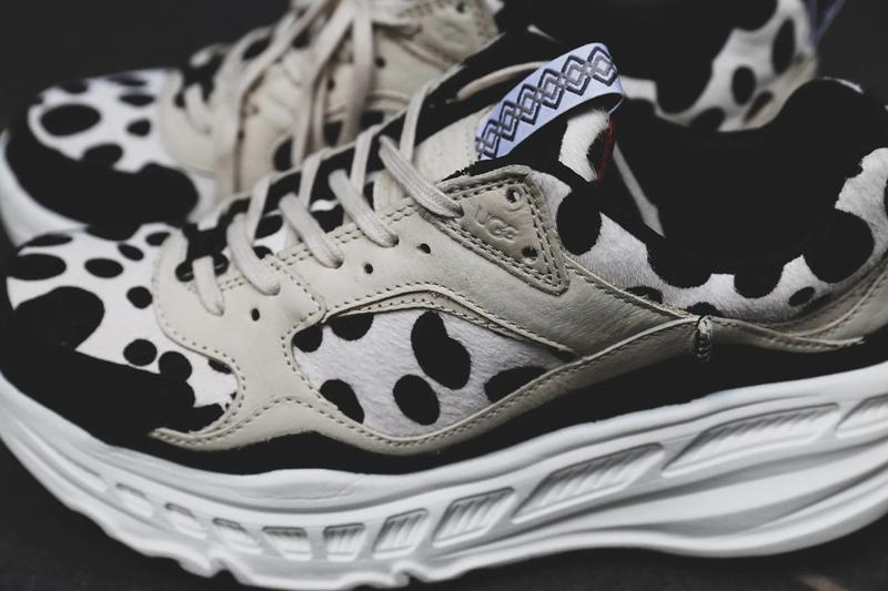 ugg ca805 sneaker Dalmatian white black dog print atmos official release date info photos price store list buying guide