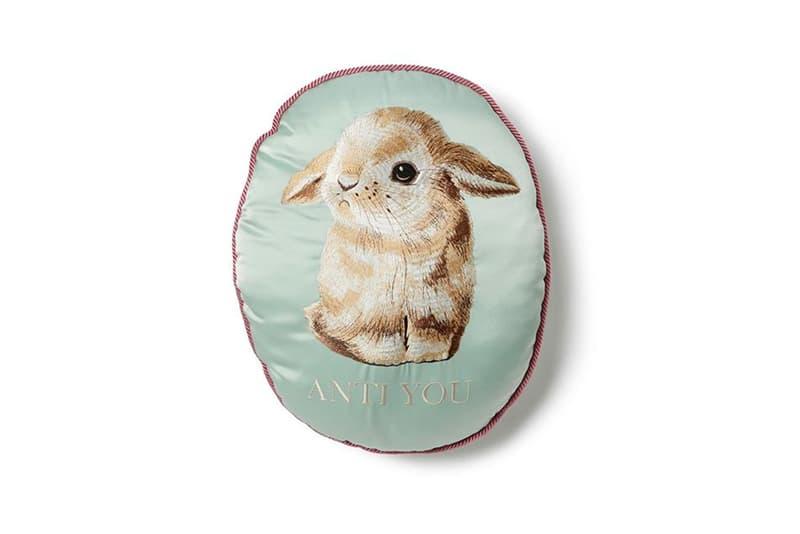UNDERCOVER Embroidered Pillows grace doll gilapple bear peacebuilder anti you bunny monkey guitar spring summer 2020 collection ss20 jun takahashi