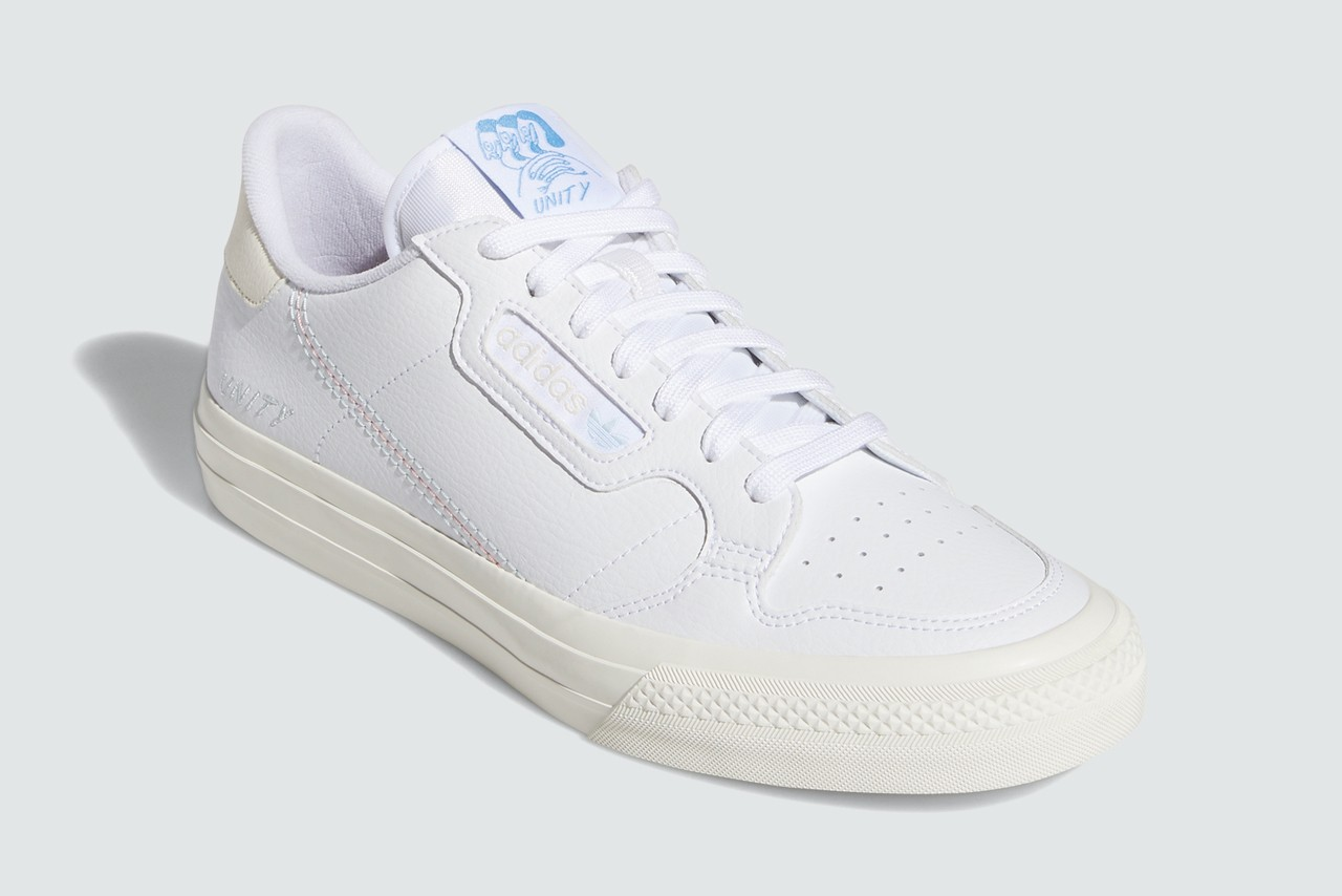 unity adidas skateboarding collection lgbtq continental vulc cloud chalk white light blue EH1808 coronado EH1806 legend ink sky tint official release date info photos price store list buying guide