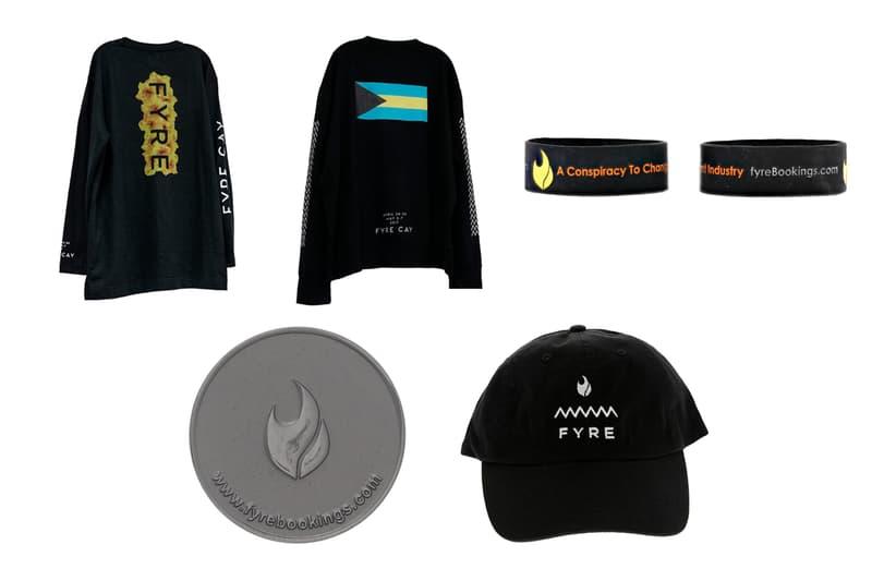 US Marshals Service Fyre Fest Merch Auction Release Info Buy Price T shirt hoodie sweat pants wristband token T shirt