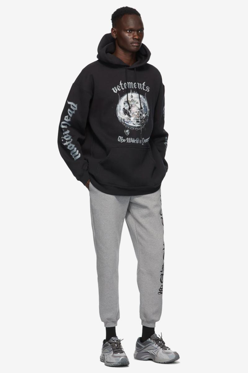 vetements black motorhead edition the world is yours hoodie shirt release ssense long sleeve shirts