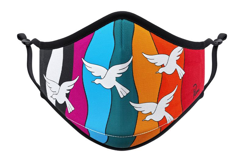 Vistaprint Artist-Designed Face Mask Collection futura laboratories graffiti geoff mcfetridge parra jen stark hands birds mandala optical illusion