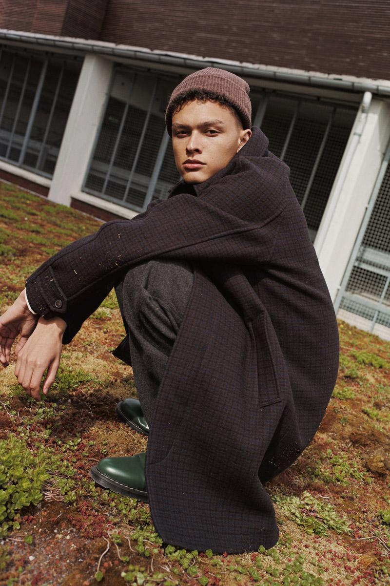 Wood Wood Fall/Winter 2020 Lookbook Collection jackets vests outerwear beanies hats sweaters knitwear sweater shirts button-downs trousers blazers
