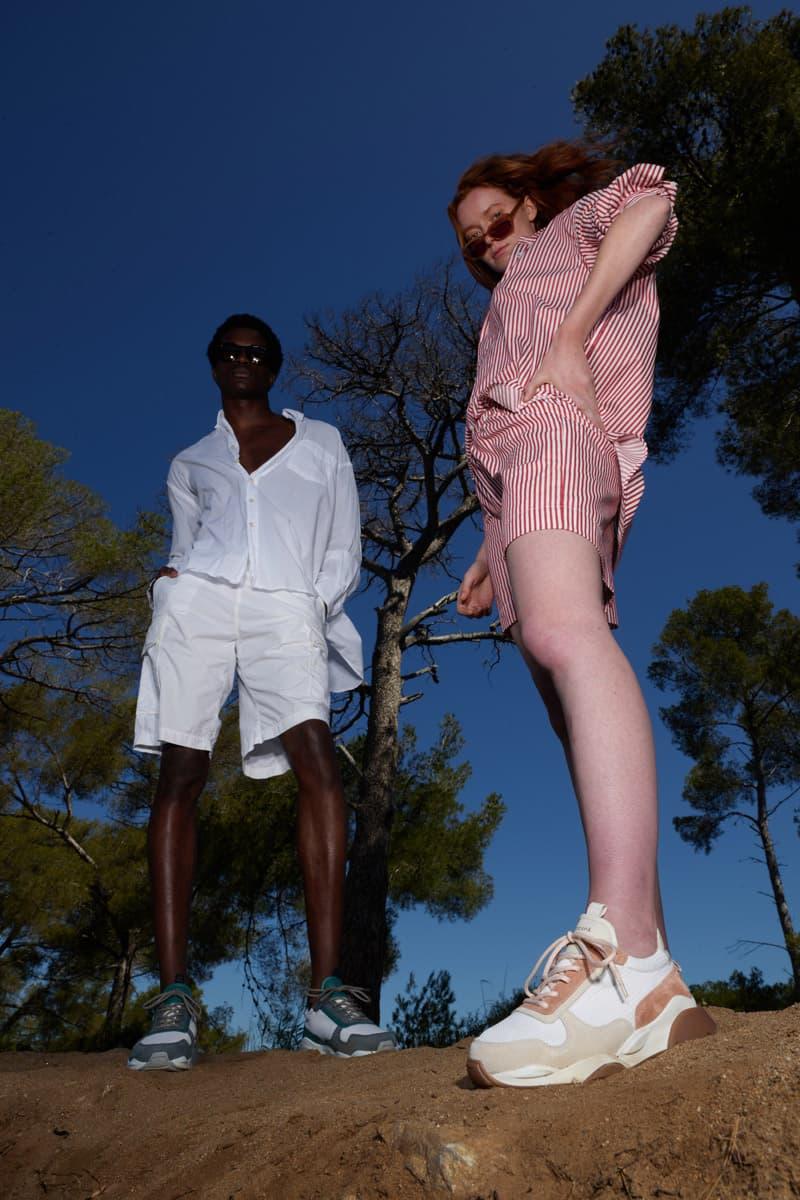 ZESPÀ Spring/Summer 2021 Footwear Collection sandals slip-ons sneakers Mediterranean beach summer beige white blue orange sustainable soles leather