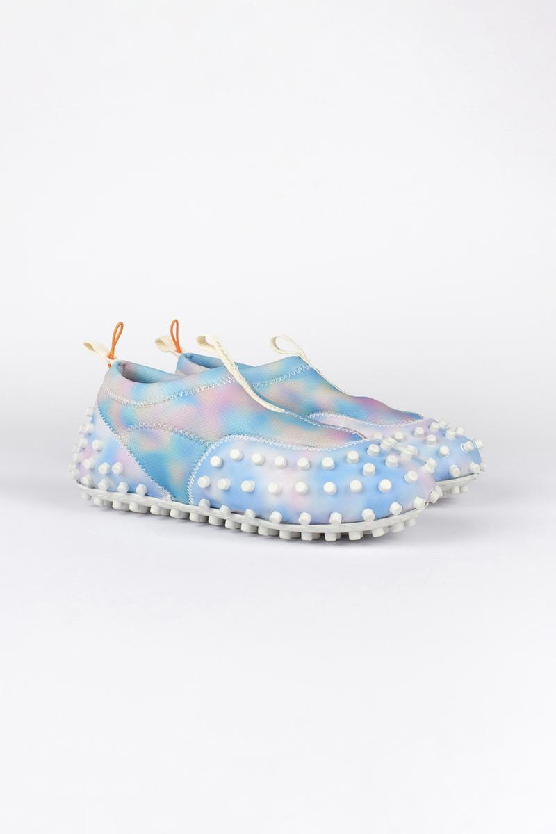SUNNEI 1000CHIODI Spring/Summer 2021 SS21 Footwear Dad Shoes Loafers Indoors At Home Technical Fabric Leather Bumpy Nodules Printed Heat Map Design Italian Luxury Futuristic Slippers Water Shoes Hydro Footwear