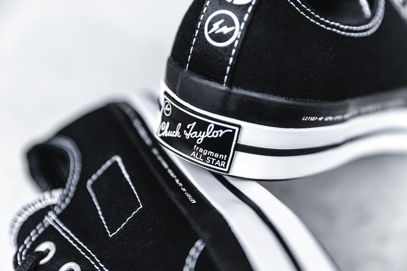 "7 MONCLER x fragment design x Converse Chuck 70 Ox ""Black/White"" ""White/Black"" Closer Look Footwear Release Information Drop Date HBX Sneaker Collaboration Heat Hype Stamp"