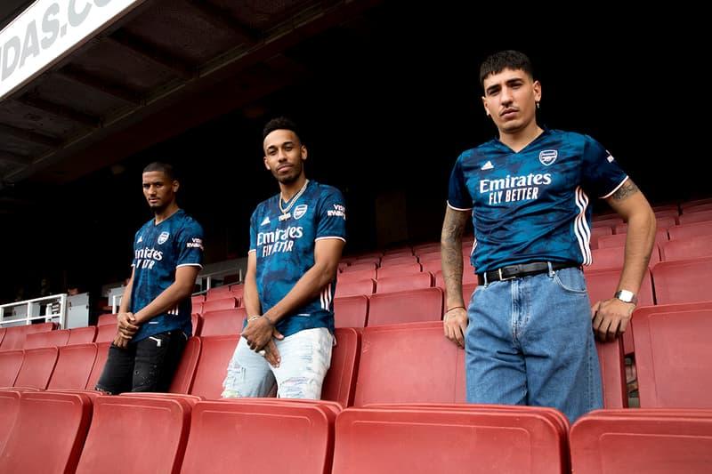 arsenal adidas football 2020 21 third kit tie dye blue orange hector bellerin release information first look