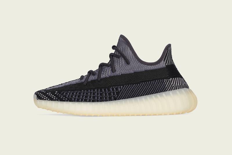 "adidas Originals YEEZY BOOST 350 V2 ""Carbon"" Release Information Closer Look Footwear Sneaker Kanye West 'Ye Three Stripes Primeknit Sole Unit Gum"