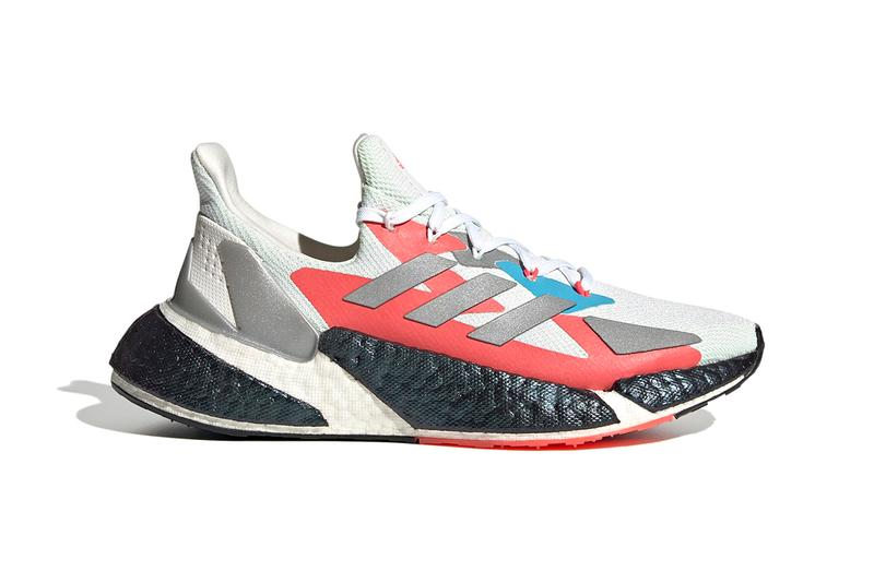 "adidas X9000L4 ""Crystal White / Silver Metallic / Signal Green"" FW8406 BOOST Midsole Running Sneaker Release Information Closer First Look Tech Footwear CGI"