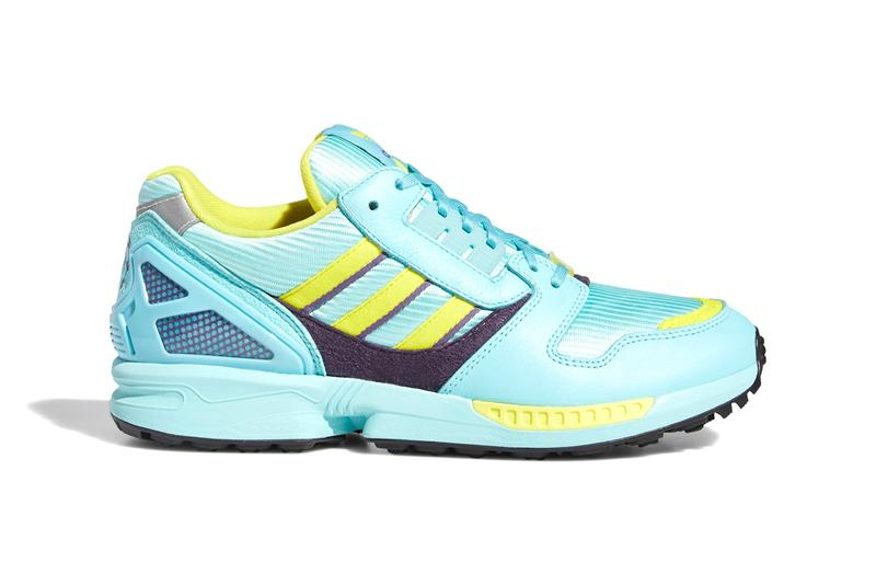 "adidas ZX 8000 Golf ""Aqua"" ""CLEAR AQUA / SHOCK YELLOW / LIGHT AQUA"" FX0761 ""A-ZX Series"" Sneaker Footwear Release Information G Drop Date Golfing Sports Three Stripes Water Repellant Spikeless BOOST"