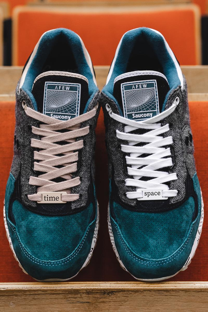 """AFEW x Saucony Shadow 5000 """"Time & Space"""" Theory of Relativity Albert Einstein Sneaker Collaboration Release Information Drop Date Lookbook Premium Materials Limited Edition HYPE Shoes Footwear"""