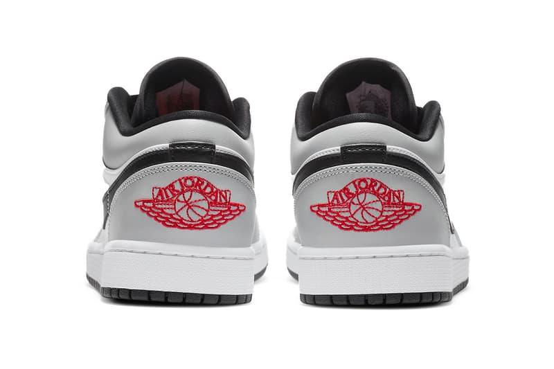 Air Jordan 1 Low Light Smoke Grey Release Info 553558-030 Gym Red White Buy Price