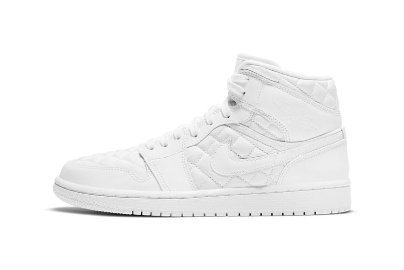 air jordan brand 1 mid quilted DB6078 100 white black official release date info photos price store list buying guide womens