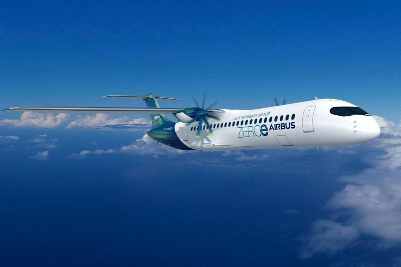 Airbus Hydrogen-Fueled ZEROe Zero-Emissions Passenger Planes green house carbon planes aviation France