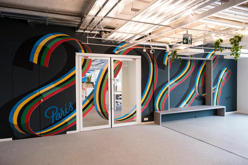 alexis tyrsa murals nike headquarters paris france