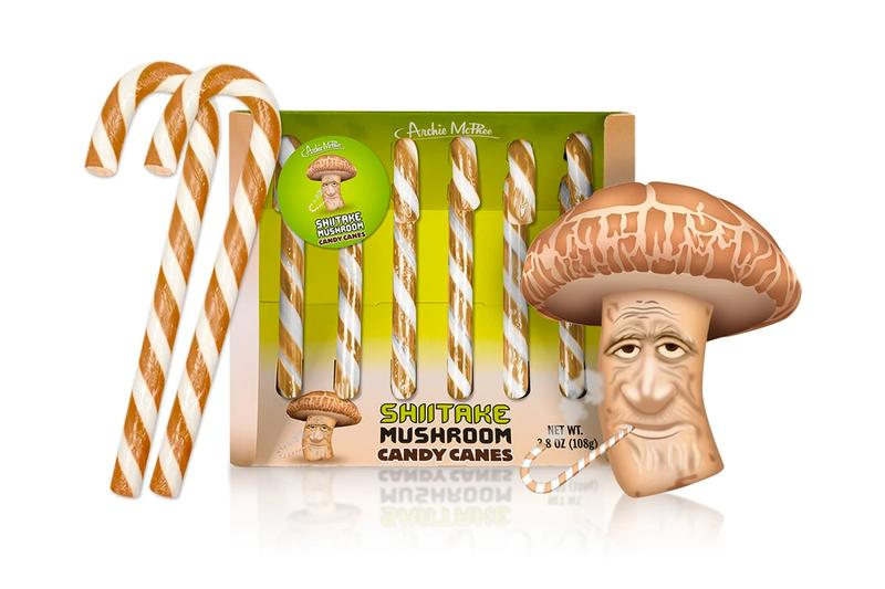 Archie McPhee Creates Shiitake Mushroom, Pho, and Ketchup-Flavored Candy Canes