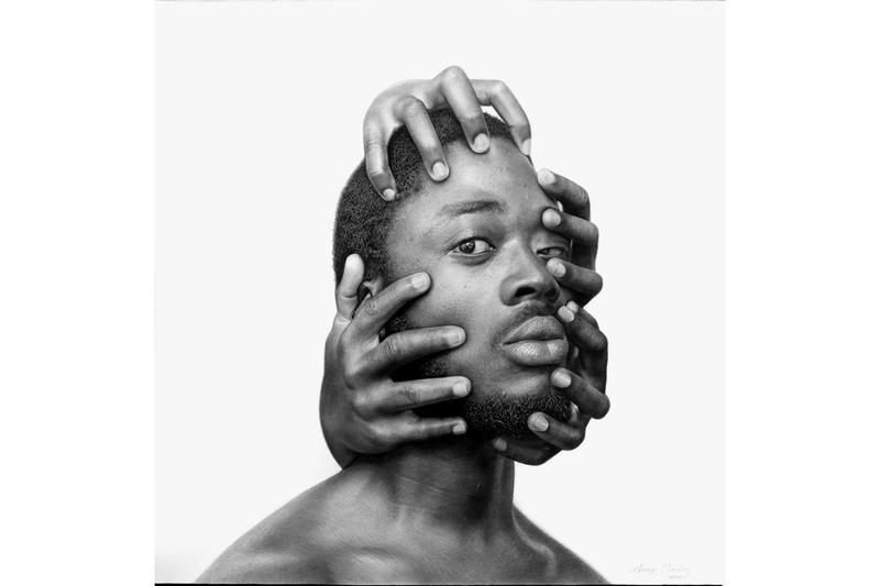 "Arinze Stanley Exhibition at Corey Helford Gallery ""Paranormal Portraits"" charcoal graphite pencils hyperrealism artwork"