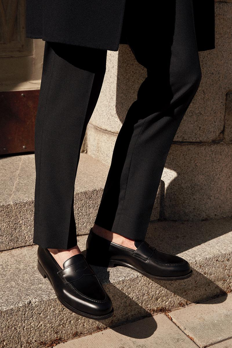 ARKET morjas penny loafer 2020 collaboration fw20 where to cop where to buy black tonal black