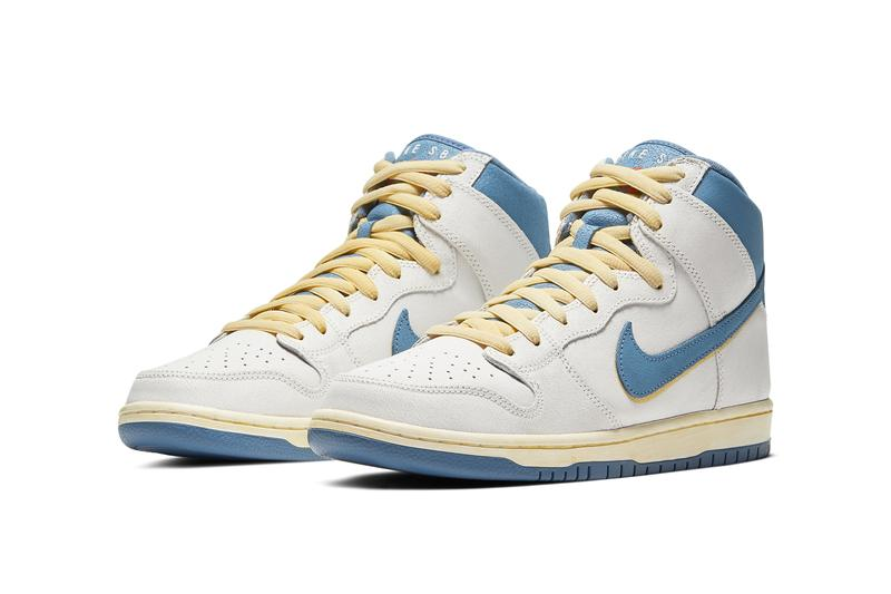 atlas nike sb skateboarding dunk high lost at sea cream white yellow blue cz3334 100 official release date info photos price store list buying guide
