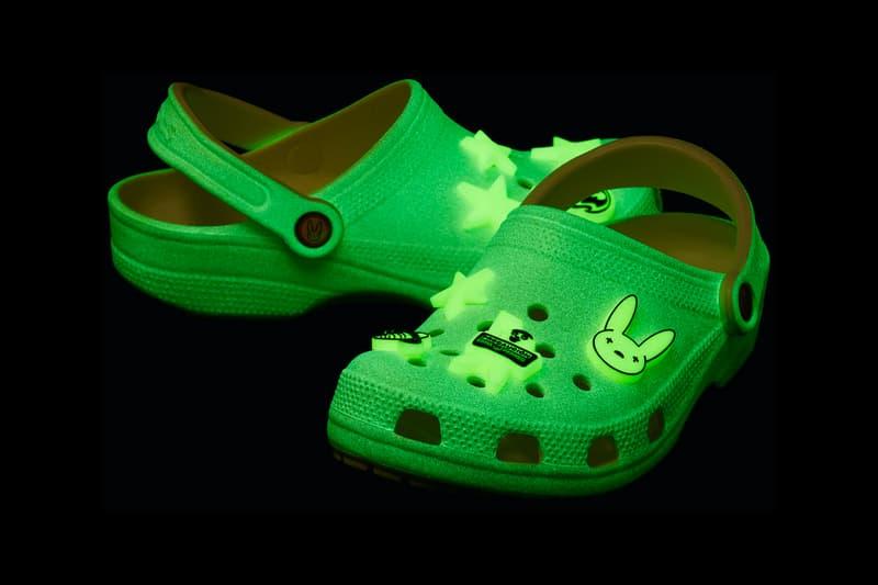 Bad Bunny Crocs Glow in the Dark Clogs menswear streetwear kicks shoes trainers runners footwear fall winter 2020 collection fw20 halloween