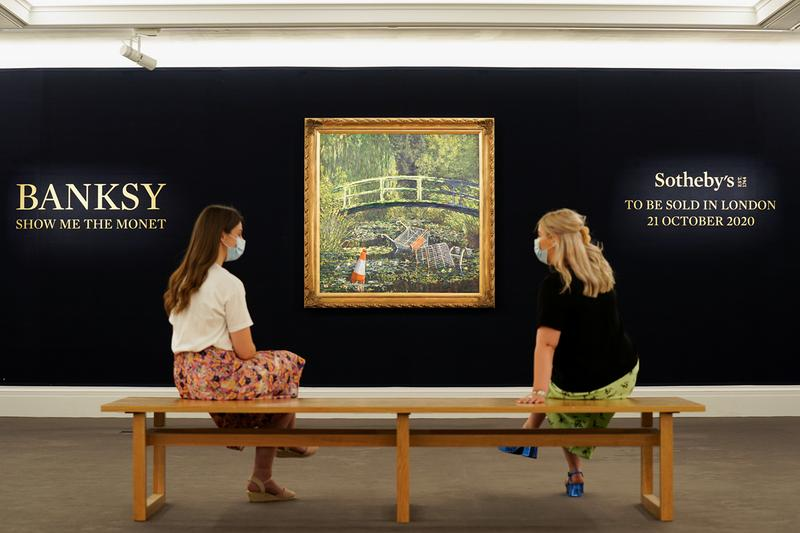 banksy show me the monet painting sothebys auction sale artwork art