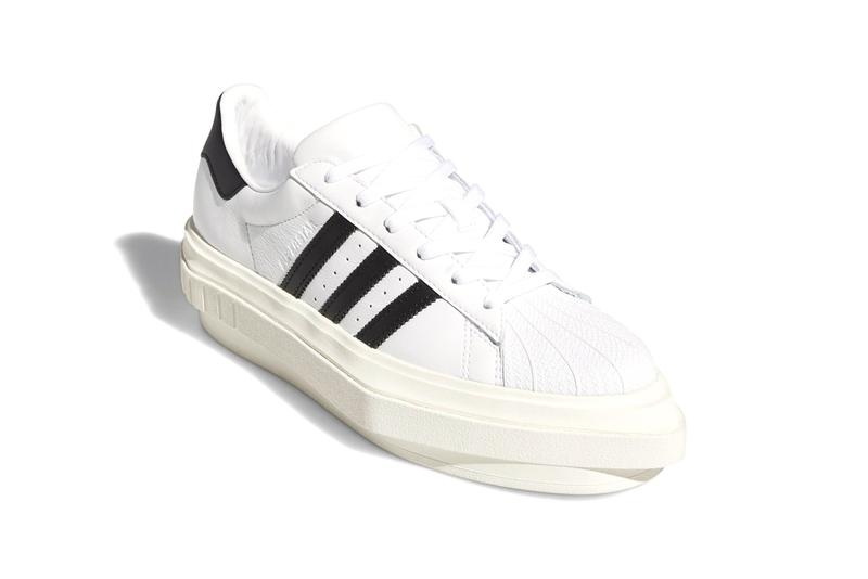 "Beyoncé x adidas Originals Superstar Platform ""Cloud White/Core Black/Off White"" FY7730 Shell Toe Sneaker Collaboration Queen B Release Information Closer First Look Shoe Three Stripes"