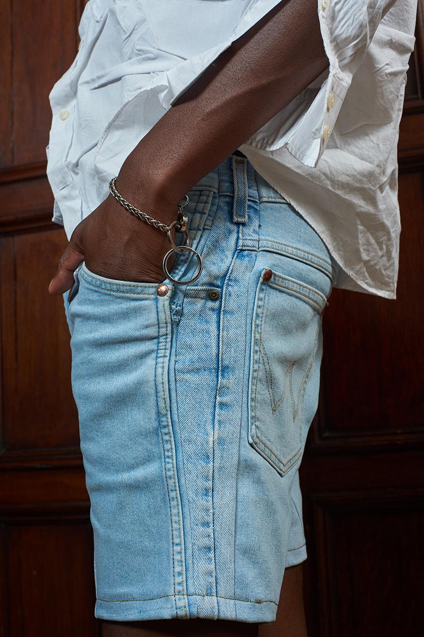 bianca saunders london fashion week spring summer 2021 wrangler denim interview information first look exclusive