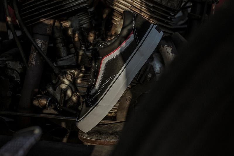 Blends x Born Free x Vans Vault OG Old Skool LX Collaboration Release Information Closer Look Drop Date Footwear South California Los Angeles LA Sneaker Jazz Stripe Red White Blue America USA Bikers Suede Tumbled Leather