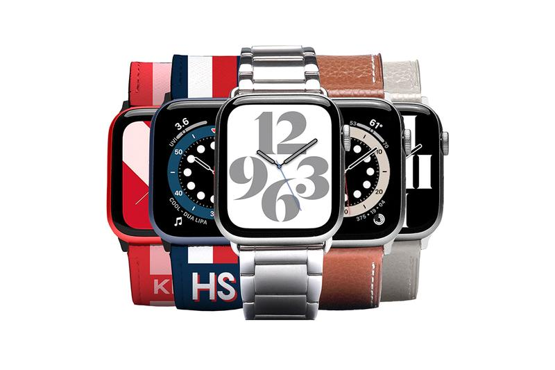 CASETiFY Apple Watch 6 Watch Bands Straps Customization Custom Unique Metal Leather Bracelets Timepieces Tech Apple Watch SE Personalisation Saffiano Link