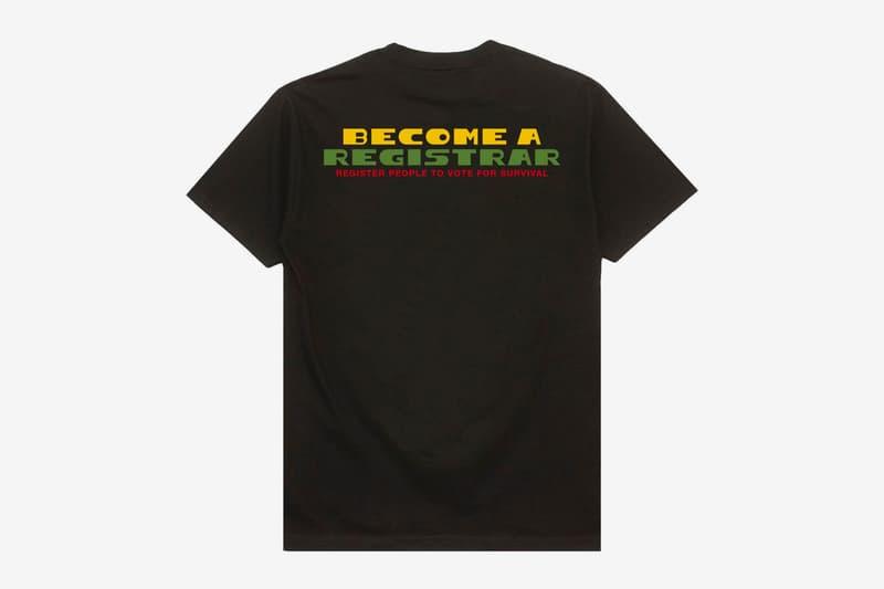 Circulate Black Out The Ballot Registrar T-Shirt Release Voting Info QR Code