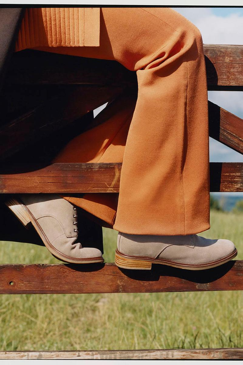 """Clarks """"THEN. NOW. ALWAYS."""" Fall/Winter 2020 Campaign Desert Boot Shoes Footwear Somerset United Kingdom Images Film Charlotte Patmore Miink Kindness"""
