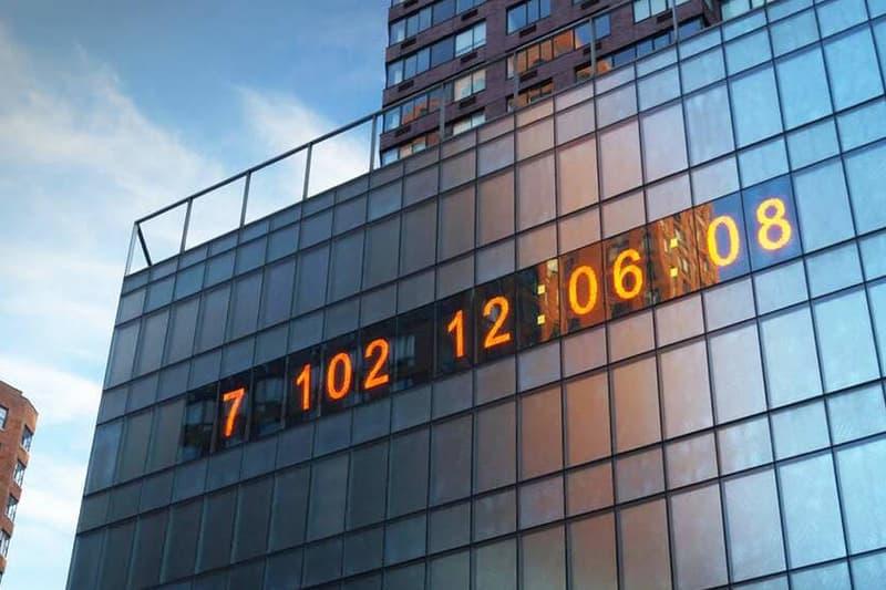 climate clock new york city union square installation