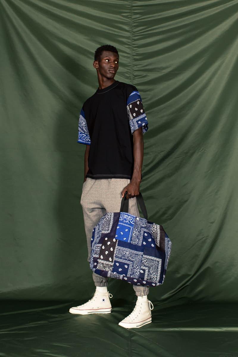 clothsurgeon PATCHWORK BANDANA_13 Collection Lookbook Rav Matharu Vintage Bandanas Patches Custom Reworked Pieces Saville Row Menswear Fashion Luxury Fishtail Parka Bowling Shirt Quilted Vest Collarless Jacket