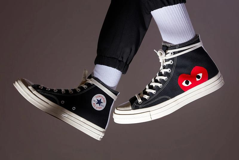 comme des garcons play converse chuck taylor 70 hi high ox low restock black sail egret cream white hearts official release restock date info photos price store list buying guide