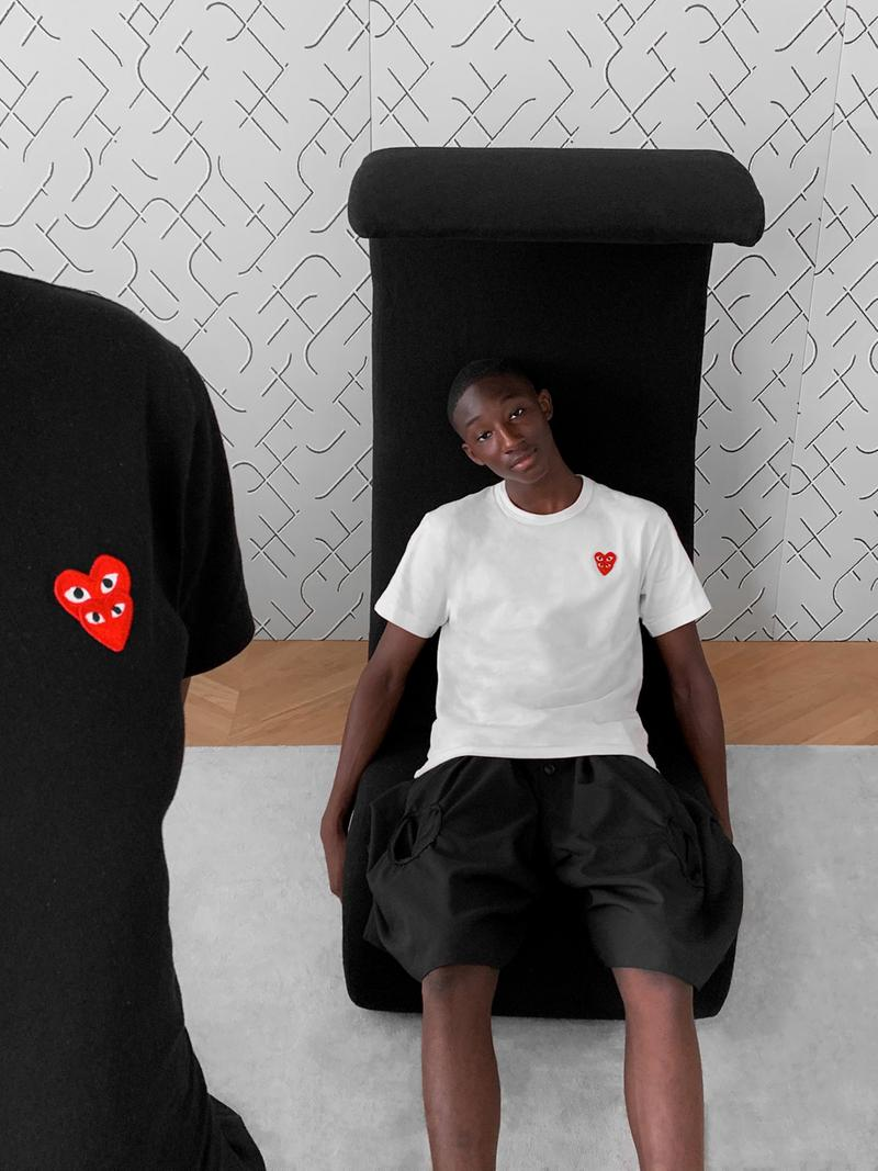 """COMME des GARÇONS PLAY """"FAMILY GUYS"""" Editorial collection lookbook Jean Jacques N'djoli release date info buy"""