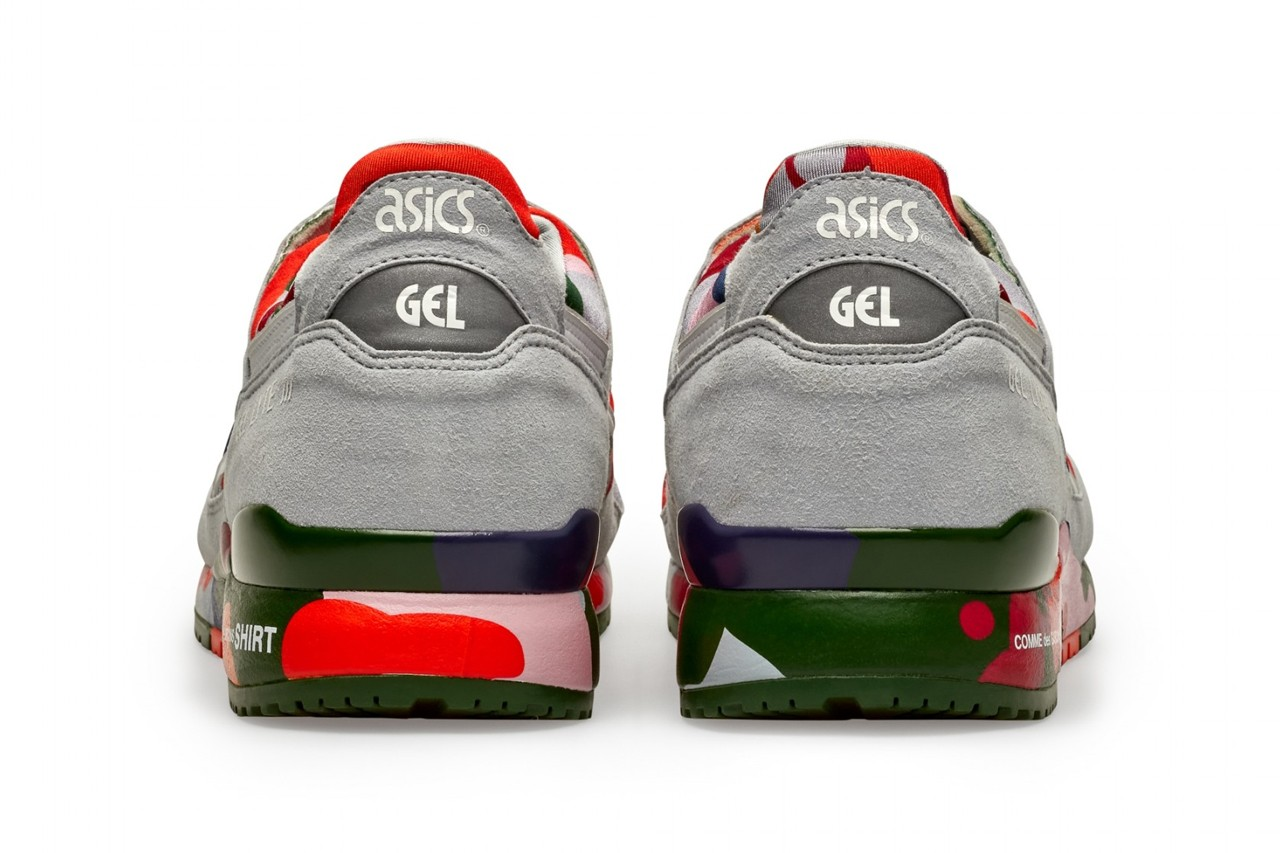 comme des garcons shirt asics gel lyte iii 3 grey white camo green pink olive red blue official release date info photos price store list buying guide