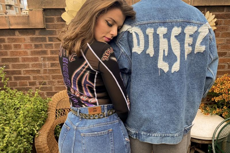 """Diesel """"Unforgettable Denim"""" Campaign, Evan Mock julia fox rays corrupted mind Donte Colley jeans collection fall 2020 RAYSCORRUPTEDMIND"""