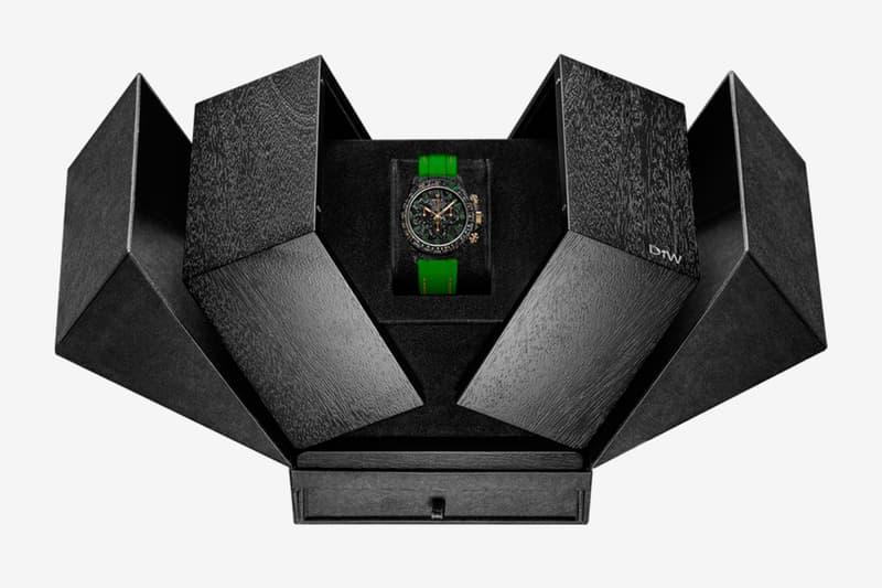 DiW Carbon-Lime Daytona Watch Info carbon fiber Designa Individual Watches Rolex Daytona watches swiss watches Gold Luxury