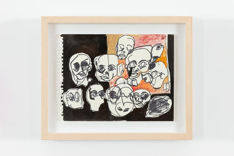 eddie martinez drawnantine exhibition artworks drawings works on paper